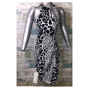 NWT Cach'e Cache Animal Print Women's Dress M.